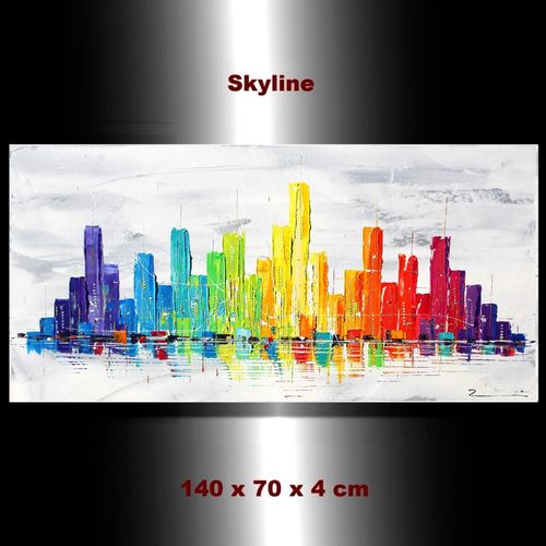 Stadt Skyline New York City handgemalt abstrakt Zenic