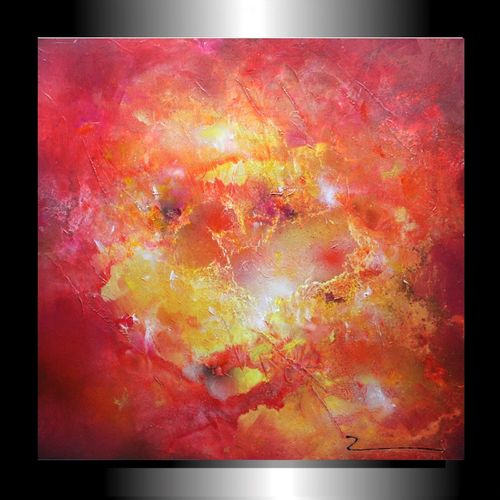 "Bild abstrakt ""Red Dreams"" 50x50x2 cm Zenic"